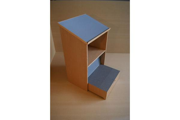 Lectern with step