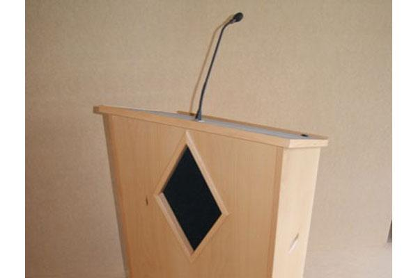 Lectern with microphone